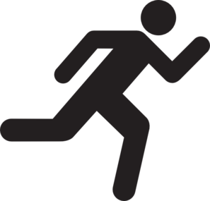 Running Icon On Transparent Background Clip Art at Clker.com.