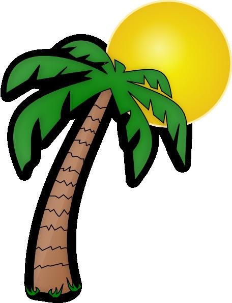Palm Tree Clip Art Transparent Background.