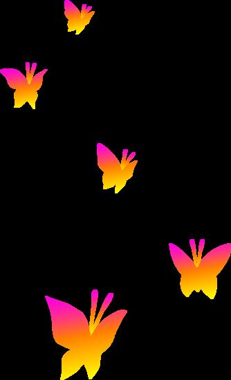 Butterflies on Transparent Background.