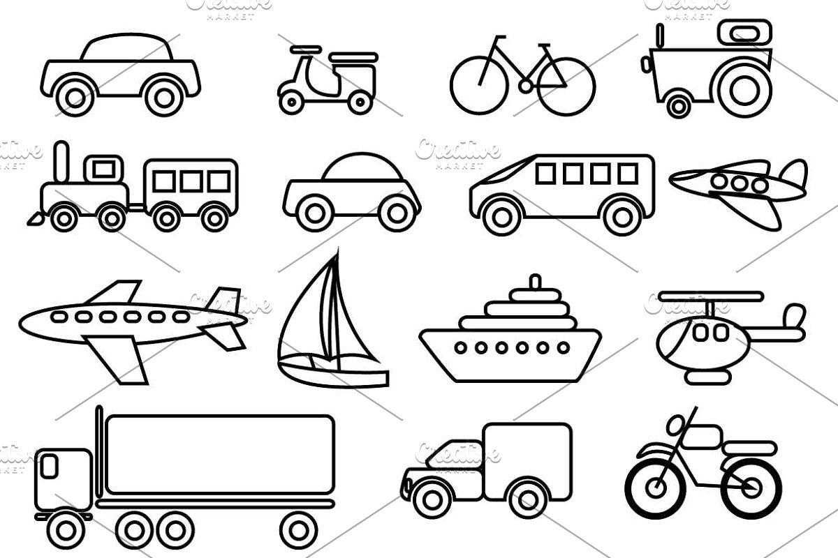 Transportation Vector Clip art set.