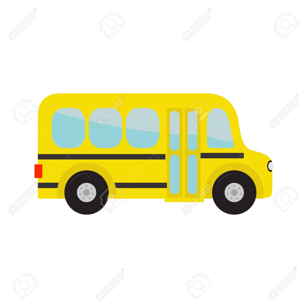 Yellow school bus kids. Cartoon clipart. Transportation. Baby...
