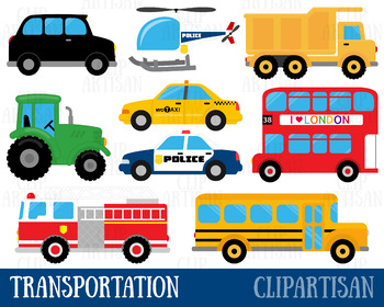 Transportation Clipart, Vehicles Clip Art.
