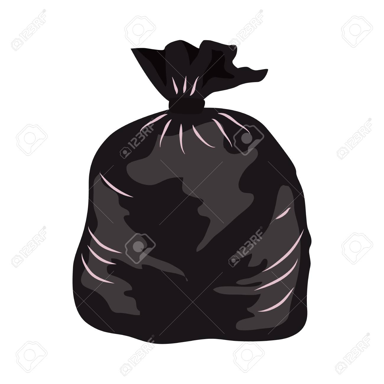 Garbage bag flat icon » Clipart Station.