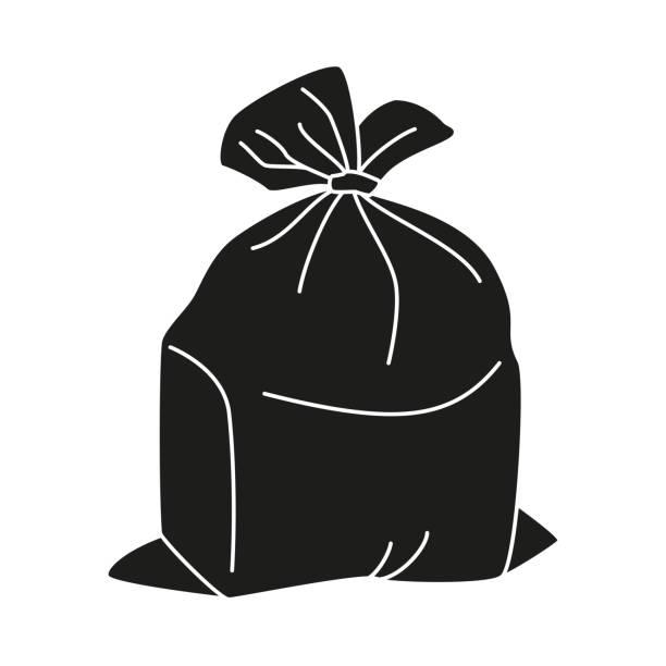Best Black Trash Bag Illustrations, Royalty.