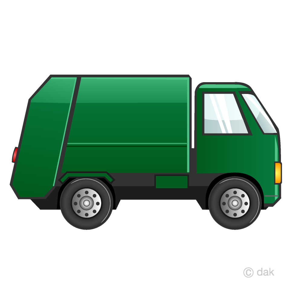 Garbage Truck Clipart Free Picture|Illustoon.