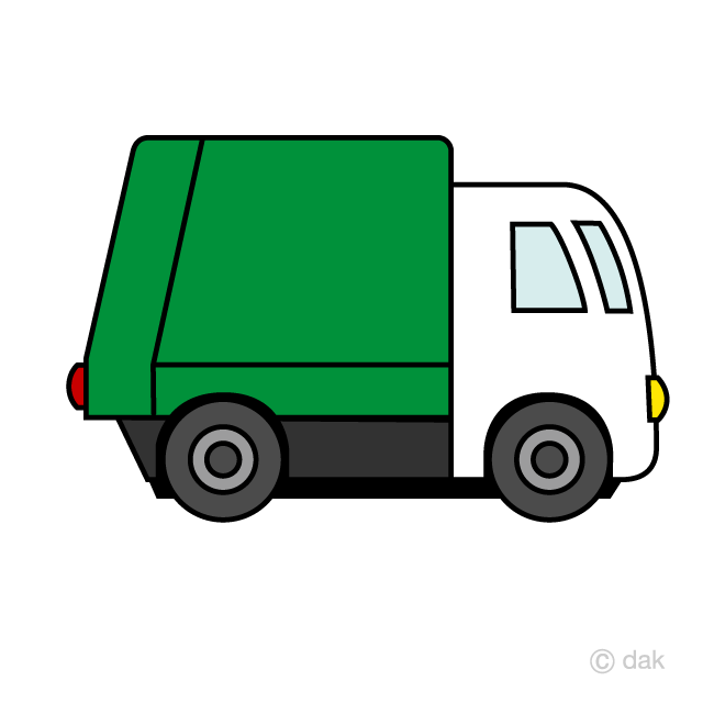 Cute Garbage Truck Clipart Free Picture|Illustoon.