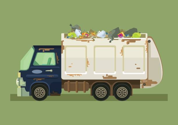 Best Garbage Truck Illustrations, Royalty.