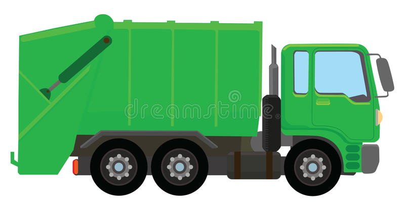 Garbage Truck Stock Illustrations.