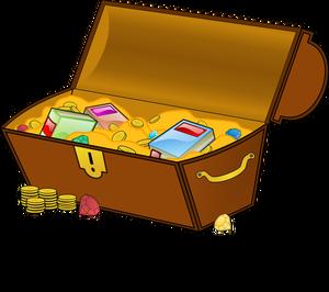 856 open treasure chest clipart free.
