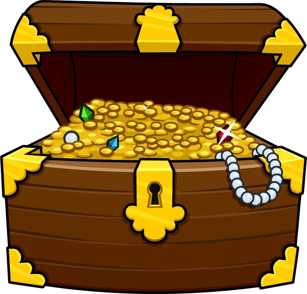 Cartoon Treasure Chest Clipart.