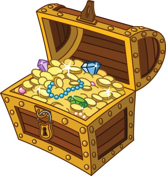 Treasure chest chest clipart trasure pencil and in color chest.