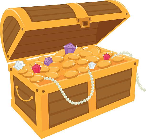 Best Treasure Chest Illustrations, Royalty.