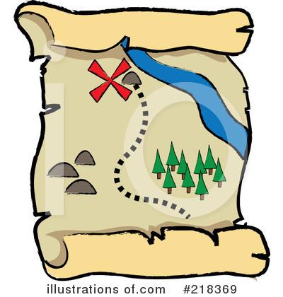 Treasure Map Clipart #218369.