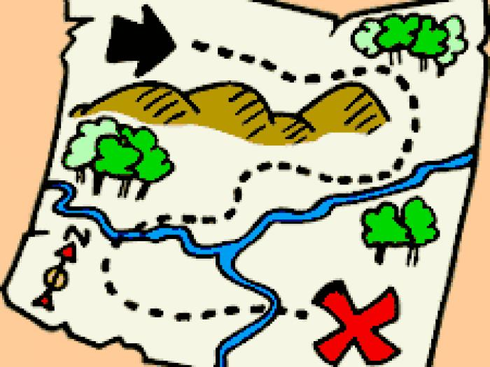 Collection of Treasure map clipart.