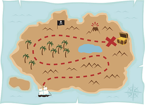 Best Treasure Map Illustrations, Royalty.