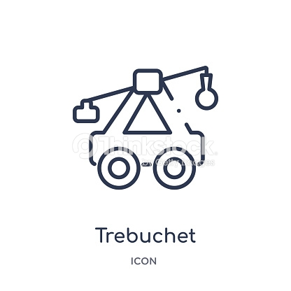 Linear Trebuchet Icon From Cultures Outline Collection Thin Line.