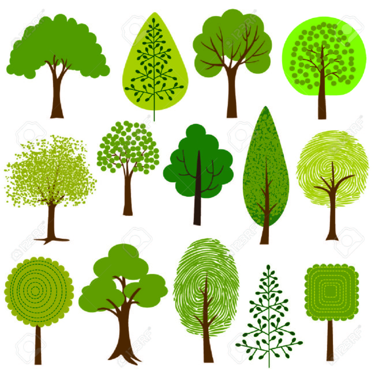 trees clipart.