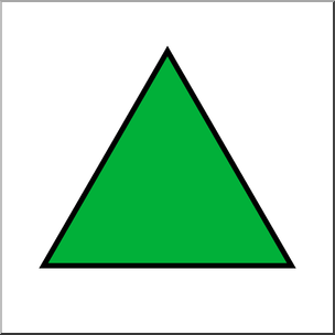 Clip Art: Shapes: Triangle: Equilateral Color Unlabeled I abcteach.