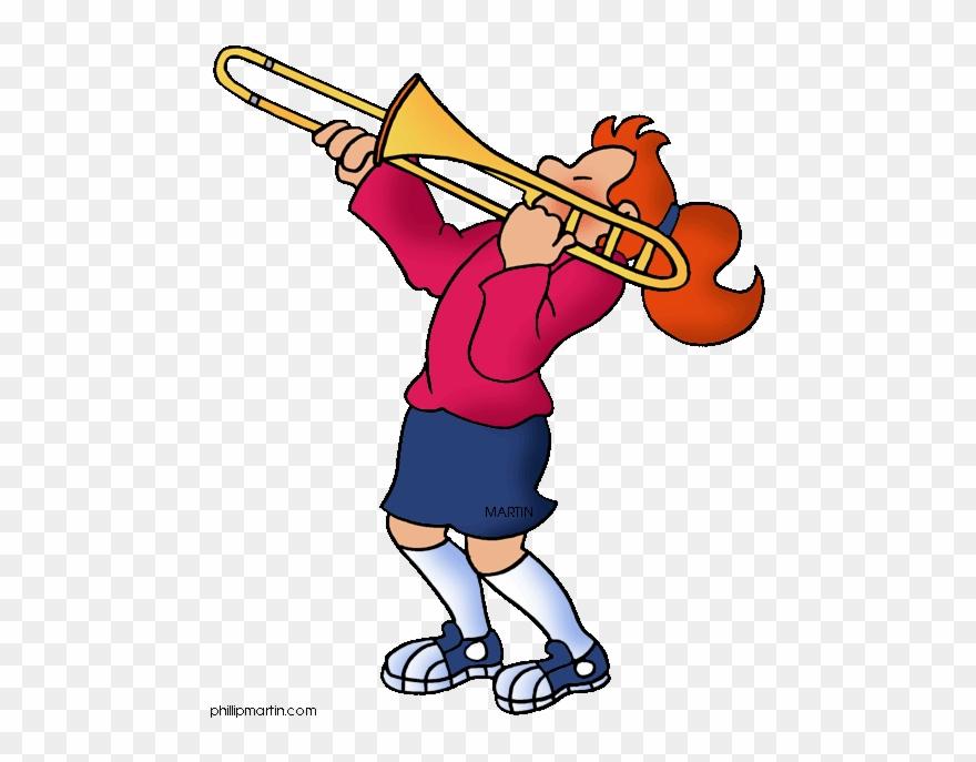 Trombone Player Clipart.