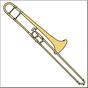 Clip Art: Trombone Color I abcteach.com.