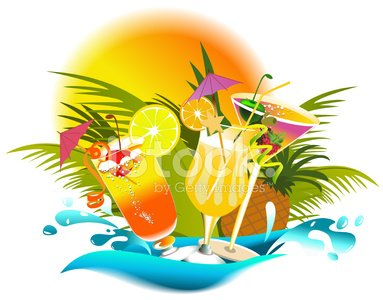 Tropical Drinks premium clipart.