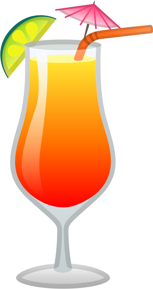 Tropical Drink Icon Clipart.