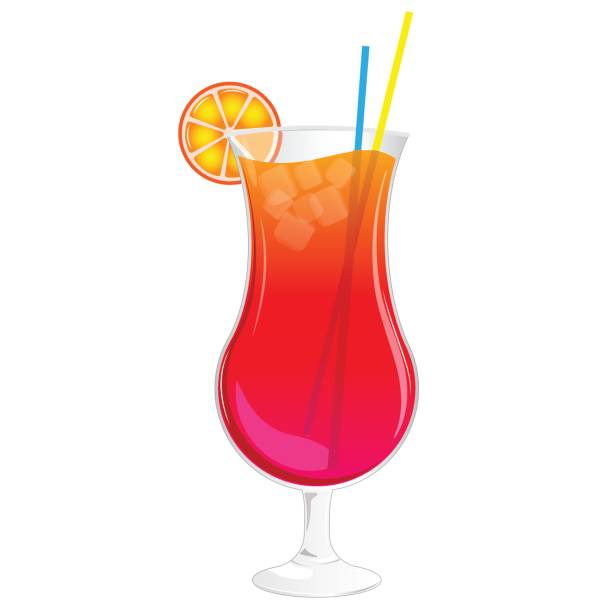 Best Tropical Drink Illustrations, Royalty.