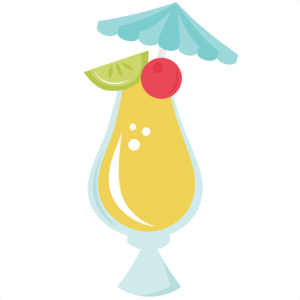 Tropical Drink SVG cut files for scrapbooking tropical svg files.