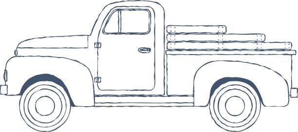 Best Vintage Truck Illustrations, Royalty.