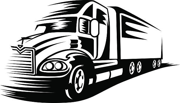 Best Trucking Illustrations, Royalty.