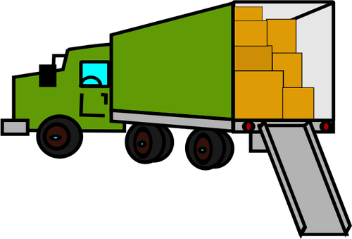 238 truck free clipart.