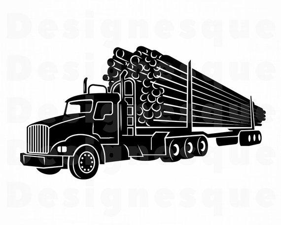 Logging Truck #2 SVG, Truck SVG, Trucking Svg, Logging Svg, Truck.
