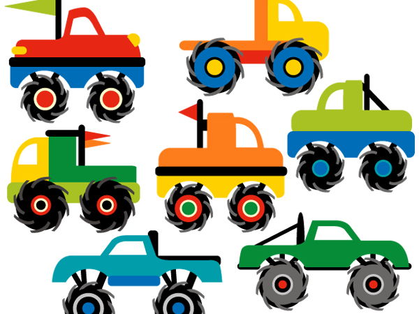 Clip art Monster Trucks.