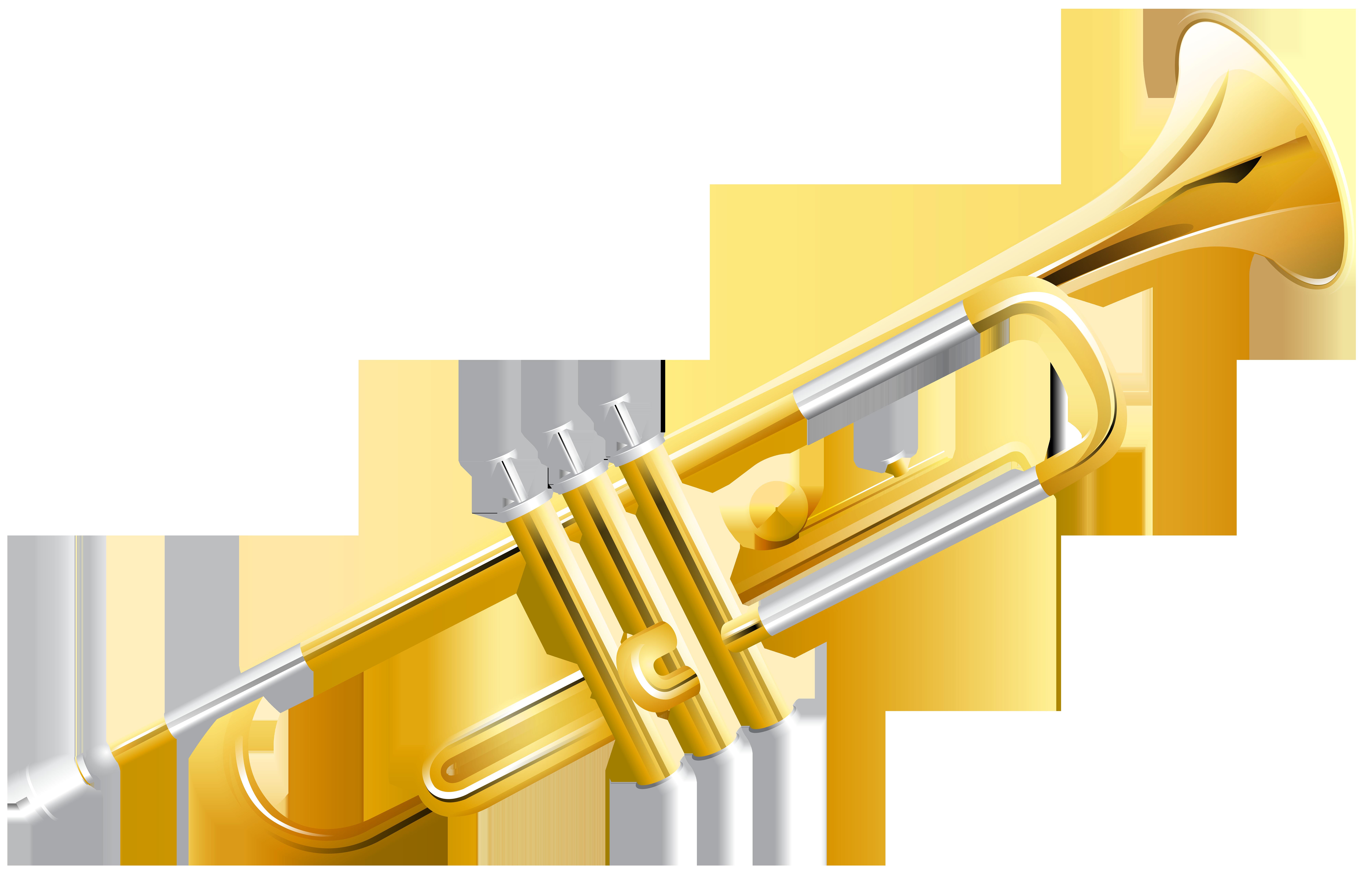 Trumpet PNG Clip Art Image.