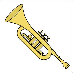 Clip Art: Trumpet Color I abcteach.com.
