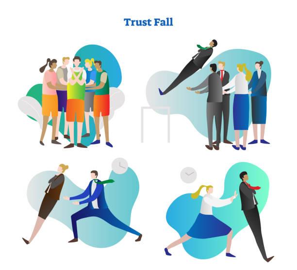Best Trust Fall Illustrations, Royalty.