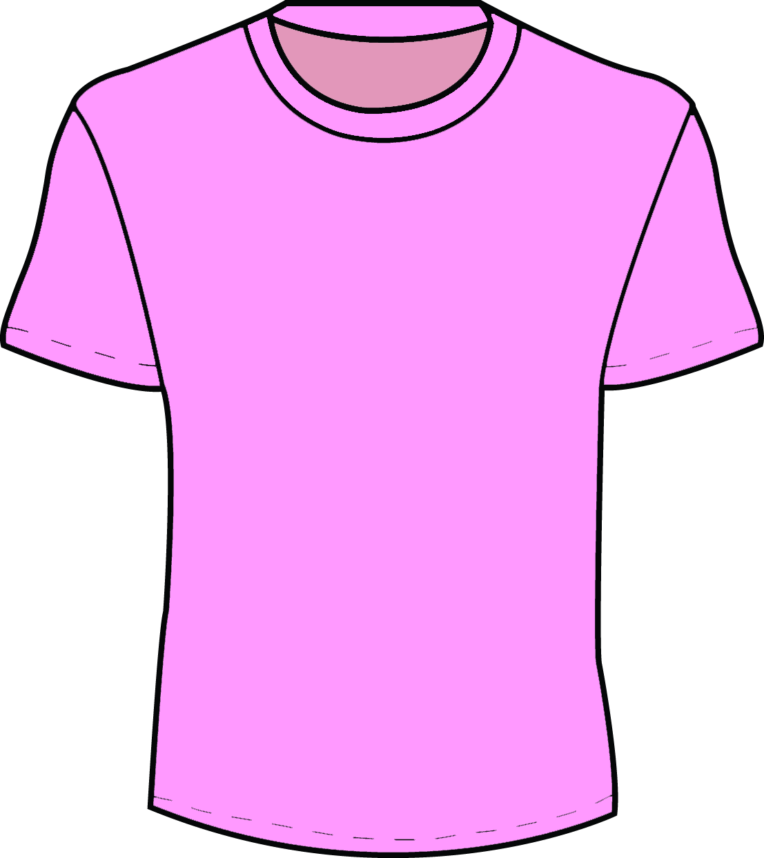 Outline Of A T Shirt Template.