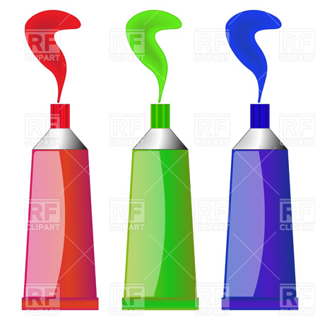 Paint tubes Stock Vector Image.
