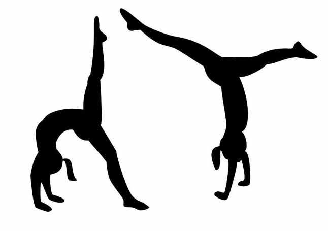 gymnastics backgrounds clipart.
