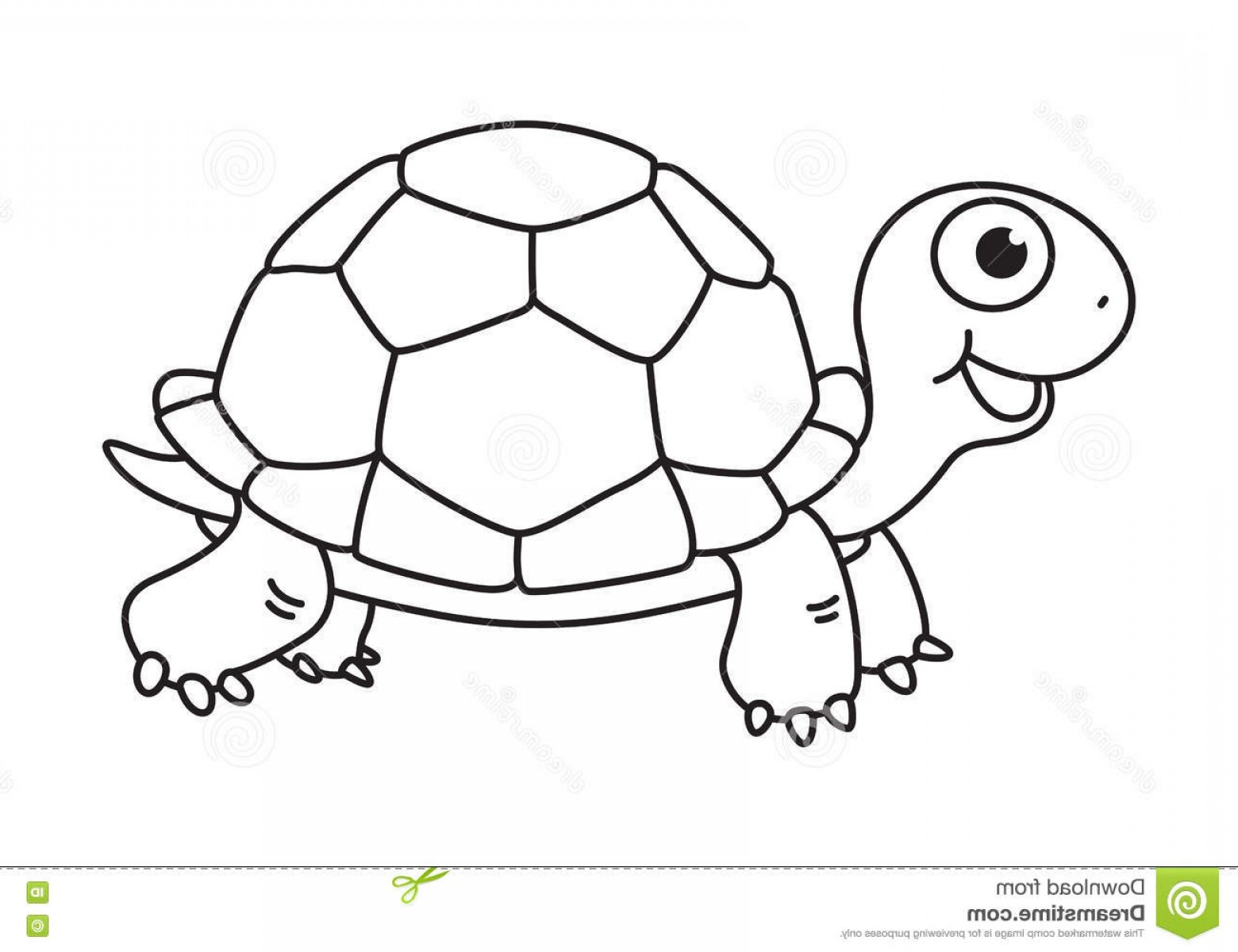 Stock Illustration Cartoon Turtle Vector Clip Art Eps Image.