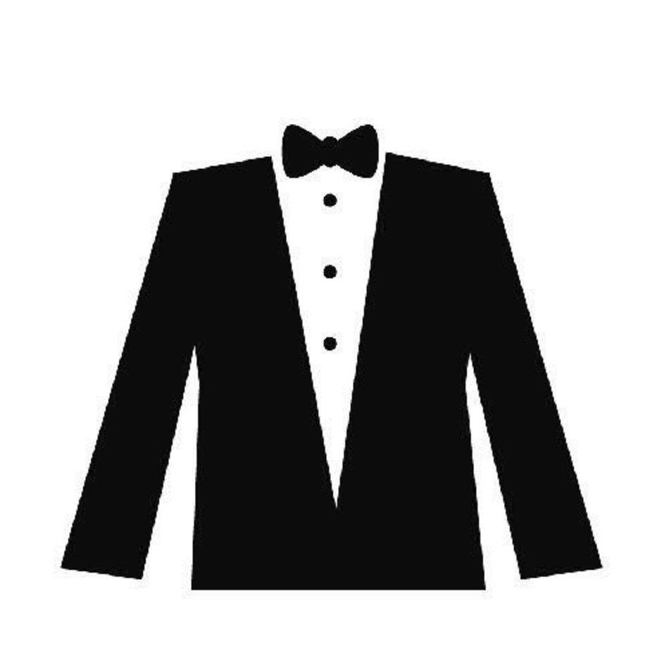 Tuxedo Shirt Clip Art N6 free image.