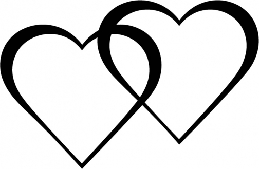50+ Two Hearts Clipart.