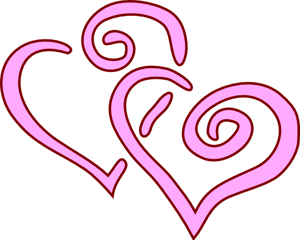 Two Hearts Clip Art at Clker.com.