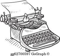 Typewriter Clip Art.
