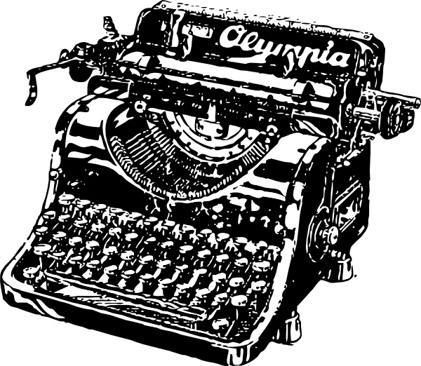 Typewriter clip art Free vector in Open office drawing svg ( .svg.