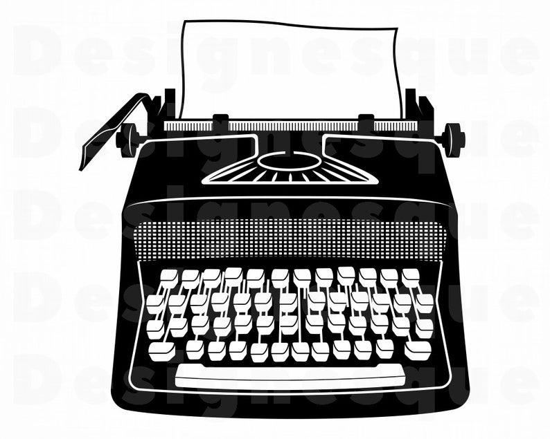 Typewriter SVG, Typewriter Clipart, Typewriter Files for Cricut, Typewriter  Cut Files For Silhouette, Typewriter Dxf, Png, Eps, Vector.