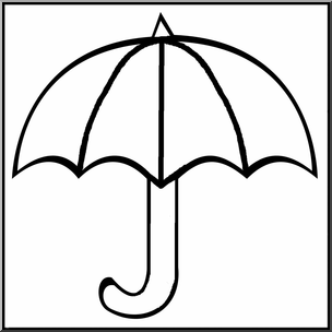 Clip Art: Umbrella B&W I abcteach.com.