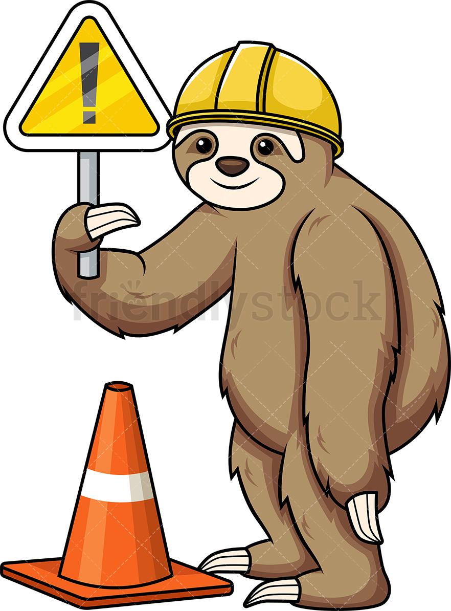 Sloth Under Construction.