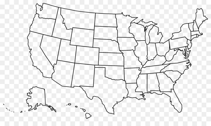 United States Blank Map U.S. State Clip #55823.