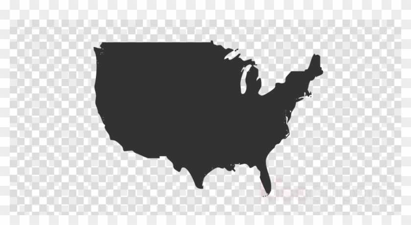 Usa Canada Map Png Clipart United States Of America.